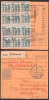 BRD Duisburg 6, Paketkarte Mit 15 Pfg. Berlin-Tegel (12er Einheit) 25.10.66 MiNr. 455, Portogenau - BRD