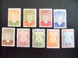 PARAGUAY 1960  WORLD REFUGEE YEAR Yvert 576 / 580 + PA 257/ 260 ** MNH - Refugiados