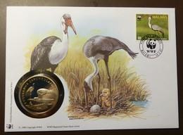 NUMISBRIEF  30 JAHRE WWF  MALAWI 1987 KLUNKERKRANICH #numis82 - Monete