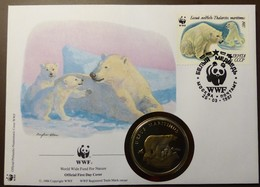 NUMISBRIEF  30 JAHRE WWF  CCCP 1987 Eisbär #numis83 - Monete