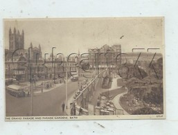 Bath (Royaume-Uni, Somerset) : Bus Station In Grande Parade And Parade Gardens En 1930 (lively) PF. - Bath
