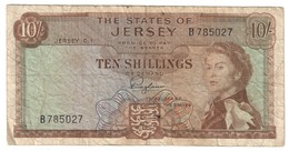 Jersey 10 Shillings 1963 .J. - Jersey