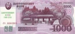 COREE DU NORD 1000 WON 2018 UNC P CS21 ( 70e Anniversaire) - Corée Du Nord