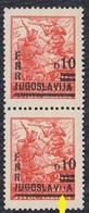 Yugoslavia 1949 Definitive, Error - Damaged Overprint, MNH (**) Michel 589 - Imperforates, Proofs & Errors