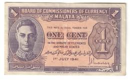 Malaya 1 Cent 1941 .J. - Malesia