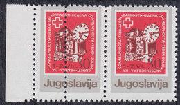 Yugoslavia 1987 Solidarity Week Surcharge, Error - Moved Perforation, MNH (**) Michel 135 - Non Dentelés, épreuves & Variétés