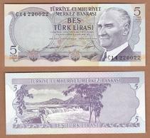 AC - TURKEY - 6th EMISSION 5 TLC 14 220 022 RADAR UNCIRCULATED - Turkey