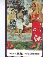 Télécarte JAPON * PEINTURE FRANCE (2108) AUGUSTE RENOIR *  MUSEUM * ART * TK Gemälde  Phonecard Japan * KUNST - Painting