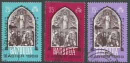 Barbuda. 1969 Easter Commemoration. Used Complete Set. SG 32-34 - Antigua & Barbuda (...-1981)