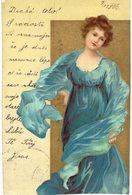 Thème - Illustration - Portrait De Femme   En Bleu - Illustrators & Photographers