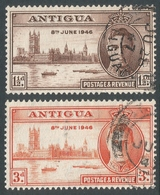 Antigua. 1946 Victory. Used Complete Set SG 110-111 - Antigua & Barbuda (...-1981)