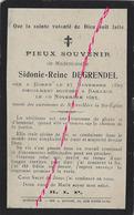 En 1913 Borre Et  Bailleul (59) Sidonie DEGRENDEL Née En 1823 - Décès