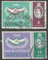 Antigua. 1965 International Co-operation Year (ICY). Used Complete Set SG 168-169 - Antigua & Barbuda (...-1981)