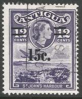 Antigua. 1965 QEII Surcharge. 15c On 12c Used. SG 165 - Antigua & Barbuda (...-1981)