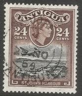 Antigua. 1953-62 QEII. 24c Used. Mult Script CA W/M SG 129 - Antigua & Barbuda (...-1981)