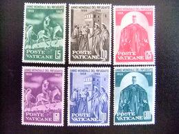 VATICANO  VATICANE 1960 - REFUGEE YEAR Yvert 293 / 298  (*) Sin Goma - Refugiados