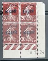 ALGÉRIE / ALGERIA 1924 - YT Préoblitéré 5** - Coin Daté 19.12.24 - Algerien (1924-1962)