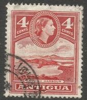 Antigua. 1963-65 QEII. 4c Used. Mult Block CA W/M SG 153 - Antigua & Barbuda (...-1981)