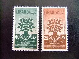 LIBAN LÍBANO 1960 WORLD REFUGEE YEAR Yvert PA 191 /192 (*) Sin Goma - Refugiados