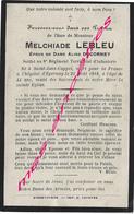 Guerre De 1914-mort Pour La France En 1918-Melchiade LEBLEU 8e RI à Epernay Né Saint Jans Cappel -ep Aline DUCORNEY - Décès