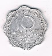 10 CENTS 1978 SRI LANKA /5278/ - Sri Lanka