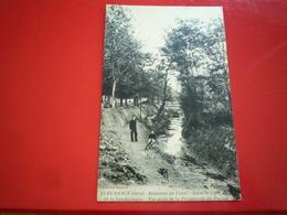CPA 1923 FLEURANCE RUISSEAU DU CUSSE DANS LE FOND DE LA GENDARMERIE VUS PRISE DE LA PROMENADE DU PERRON ETAT BON - Fleurance