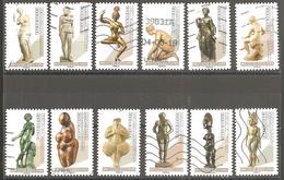 FRANCE 2019 Y T N ° 1??? Les 12 Timbres Du Carnet NUS Dans L'ART Série Complète Oblitérée - France