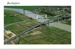 17 ROCHEFORT  LES DEUX PONTS DE MARTROU ET NOUVEAU PONT SUR LA CHARENTE - Rochefort