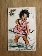 Germaine BOURET - Illustrateur - CPA à Système - Tir à L'arc - Enfant - N°631 - Bouret, Germaine