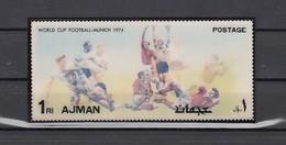 Ajman, Mi Cat. 1469, BL378. World Cup Soccer, 2-D S/sheet. - Fußball-Weltmeisterschaft