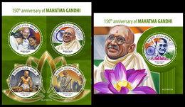 MALDIVES 2019 - Mahatma Gandhi. M/S + S/S Official Issue [MLD190312] - Mahatma Gandhi