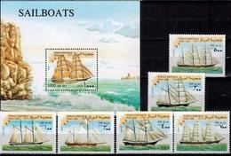 MVS-BK1-613  MINT ¤ SOMALIA 1998 KOMPL. SET  ¤ VOILIERS - ZEILSCHEPEN - SAILING SHIPS OVER THE WORLD - Maritiem