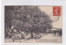 1908 CPA- AFRIQUE OCCIDENTALE, DAKAR PLACE PROTET ET MUSIQUE MILITAIRE. FORTIER. CIRCULATION PAQUEBOT - BLEUP - Sénégal