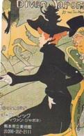 Télécarte JAPON * PEINTURE FRANCE (2121) TOULOUSE LAUTREC * FEMME *  MUSEUM * ART * TK Gemälde  Phonecard Japan * KUNST - Painting