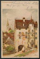 1902 Switzerland Landvogteischloss Frey & Conrad, Zurich Litho Postcard. Baden Aarau - Uznach - Cartas