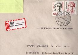 ! 1 Einschreiben  1994 Mit Selbstklebenden  R-Zettel  Aus Kirchheim, 67281 - R- Und V-Zettel
