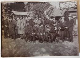 Photographie Originale Soldats Japonais Tsuchihashi élèves De L'école Japanese Soldier Japon Militaria - Militaria