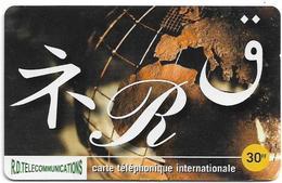 Reunion - Torc Telecom - Calligraphy - Remote Mem. 30₣, 5.500ex, Used - Reunion