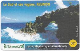 Reunion - Torc Telecom - Le Sud Et Ses Vagues - Remote Mem. 50₣, 2.000ex, Used - Reunion