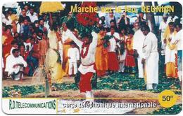 Reunion - Torc Telecom - Marche Sur Le Feu - Remote Mem. 50₣, 1.000ex, Used - Reunion