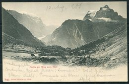 1901 Switzerland Partie Am Weg Zum Todi Postcard. Glarus - Uznach (same Day Delivery!) - Cartas