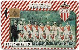 Monaco - Association Sportive De Monaco 1962-63 - Le Doublé - 04.1991, 50U, 11.000ex, Used - Monaco