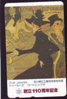 Télécarte JAPON * PEINTURE FRANCE (2128) TOULOUSE LAUTREC * FEMME *  MUSEUM * ART * TK Gemälde  Phonecard Japan * KUNST - Painting
