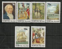 Fondation D'un Camp Pénitentiaire & Colonisation Britannique De L'Australie 1788.Série Complète Neufs ** 426/31 - Ile Norfolk