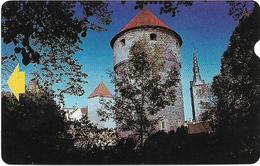 Estonia - Eesti Telefon - Alcatel - Kiek In De Kök Tower - ET0015-C (Esimene Partii 1993 Issue) - 190Kr, 7.500ex, Used - Estonia