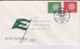 Germany 1970 FDC Europa CEPT (G61-6) - Stamps