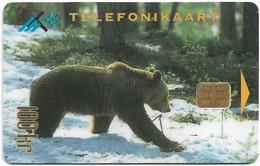 Estonia - Eesti Telefon - Animals In Wintertime - Bear - 12.1995, 100Kr, 25.000ex, Used - Estonia