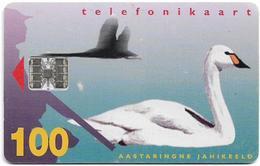 Estonia - Eesti Telefon - White Swan - 04.1997, 100Kr, 15.000ex, Used - Estonia