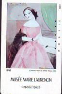 Télécarte JAPON * PEINTURE FRANCE (2144) MARIE LAURENCIN * DALMAS * MUSEUM * ART * TK Gemälde  Phonecard Japan * KUNST - Malerei