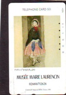 Télécarte JAPON * PEINTURE FRANCE (2145) MARIE LAURENCIN * DALMAS * MUSEUM * ART * TK Gemälde  Phonecard Japan * KUNST - Malerei